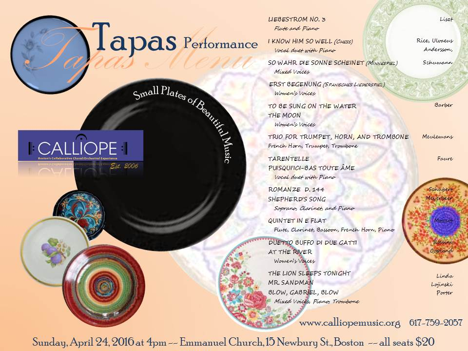 Tapas poster and program